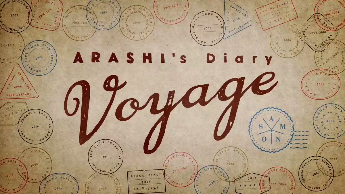 """NETFLIXオリジナルドキュメンタリーシリーズ『ARASHI's Diary -Voyage -』の#5 #6が3月31日(火)に配信スタート! Episodes 5 and 6 of """"ARASHI's Diary - Voyage ‐"""" are available on March 31! Only on @netflix @netflixJP. #Netflix #嵐 #ARASHI"""