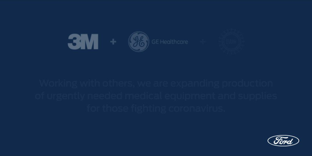 We're proud to work with @3M, @GEHealthcare and @UAW to lend our engineering and manufacturing expertise to quickly expand production of urgently needed medical equipment and supplies for healthcare workers, first responders and patients fighting #COVID19.