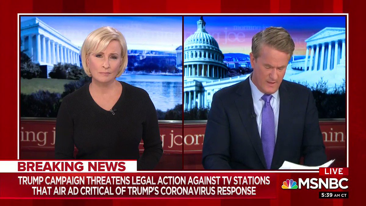 It's no secret Donald Trump is afraid of the truth, now he's threatening TV stations so the American people can't hear his own words. Watch @Morning_Joe fact check our latest ad which holds Trump accountable for his failure to confront this crisis.