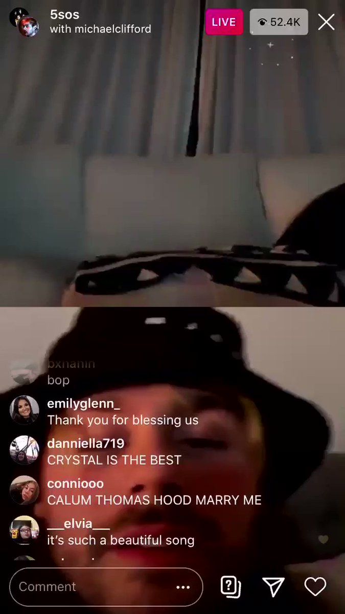 never leave me alone in an instagram live