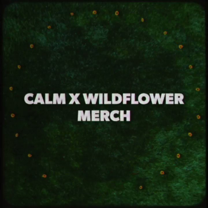 New Wildflower / CALM merch bundles on sale now in the US 🌸 $1 from every purchase will go to the Plus1 fund, set-up to support those in our community most at risk from the COVID 19 pandemic.