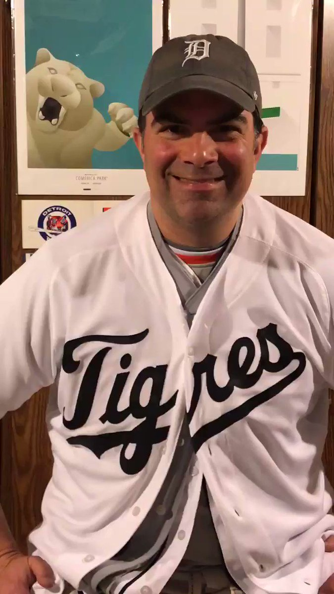 While I miss being downtown for the @tigers home opener, I don't miss having to choose which jersey to wear! (h/t to @MajorCBS for the video inspiration.) #tigersopeningstay #togetherdetroit #openingdayathome