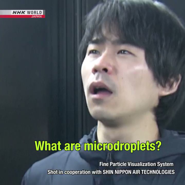"""Video of airborne """"Microdroplets"""" - they stay afloat a long time. This is the main worry of the 239 aerosol scientists who demanded the WHO recognize the indoor airborne transmission risks of #COVID19."""