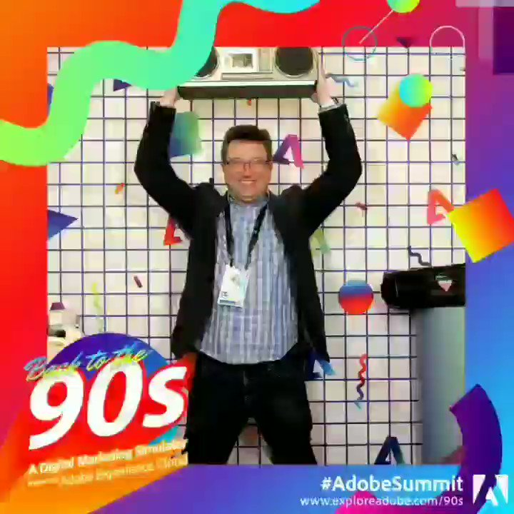 AccordingtoFred: It wont be the 90s, but getting ready to rock with #AdobeSummit in 30 min. https://t.co/jVKCc1gSUW