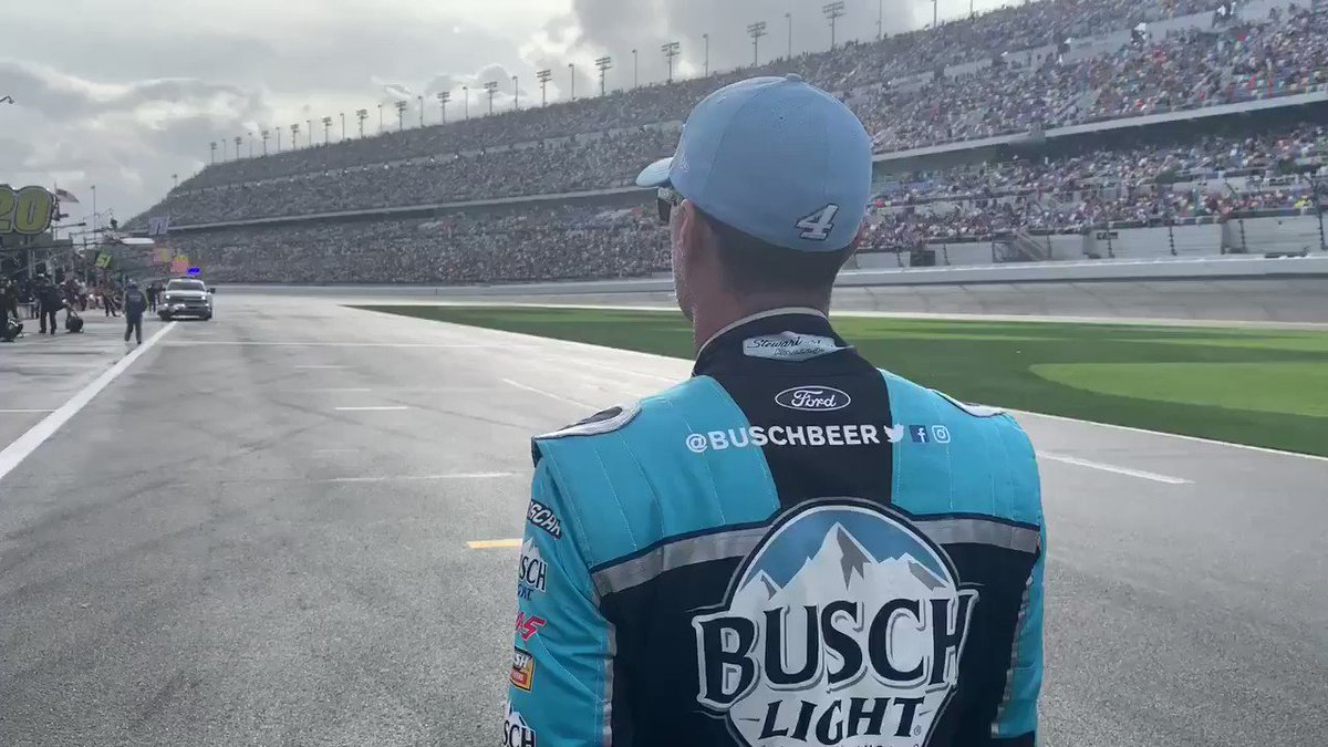 Long walks on pit road #4TheWin. 😎   #NASCAR // @BuschBeer // @KevinHarvick