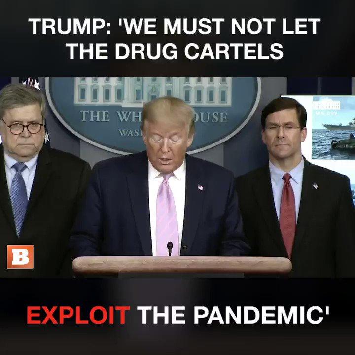 Trump warns the drug cartels.