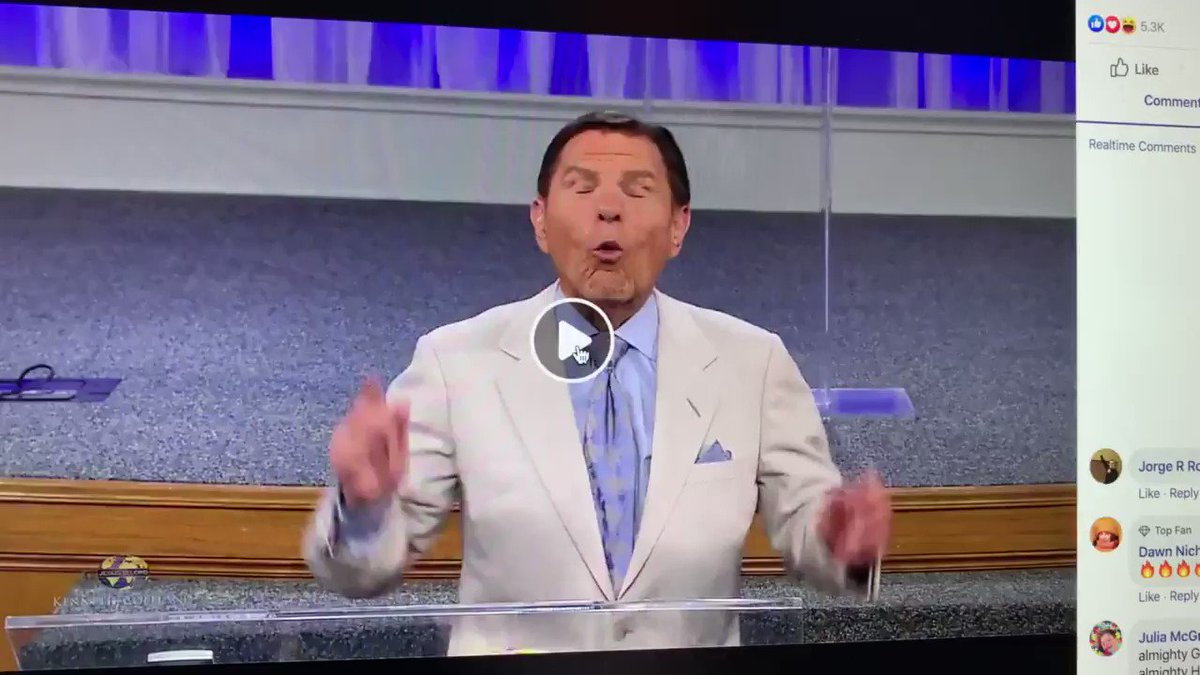 Hey everybody, we're good now.  Kenneth Copeland used his breath to blow the virus away.
