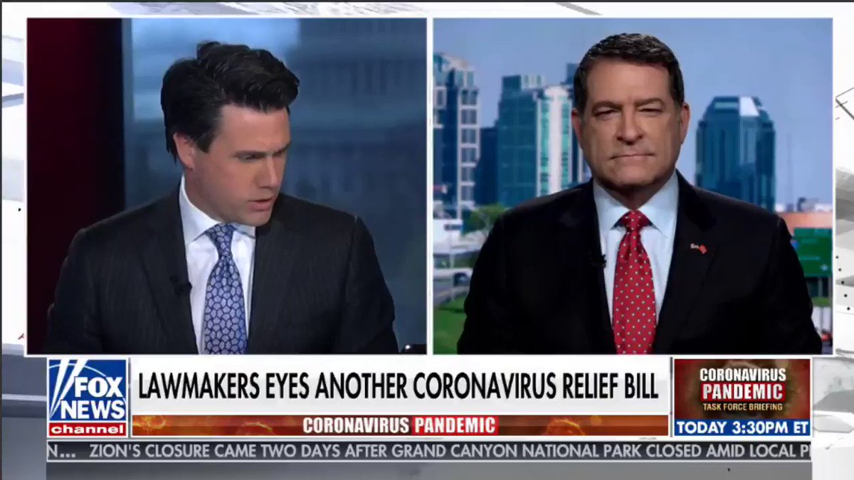 We must increase our strategic stockpiles and fix our reliance on China– the country that started this virus– for our Nation's supply of medications and medical supplies.   Joined @LelandVittert on @ANHQDC to discuss: