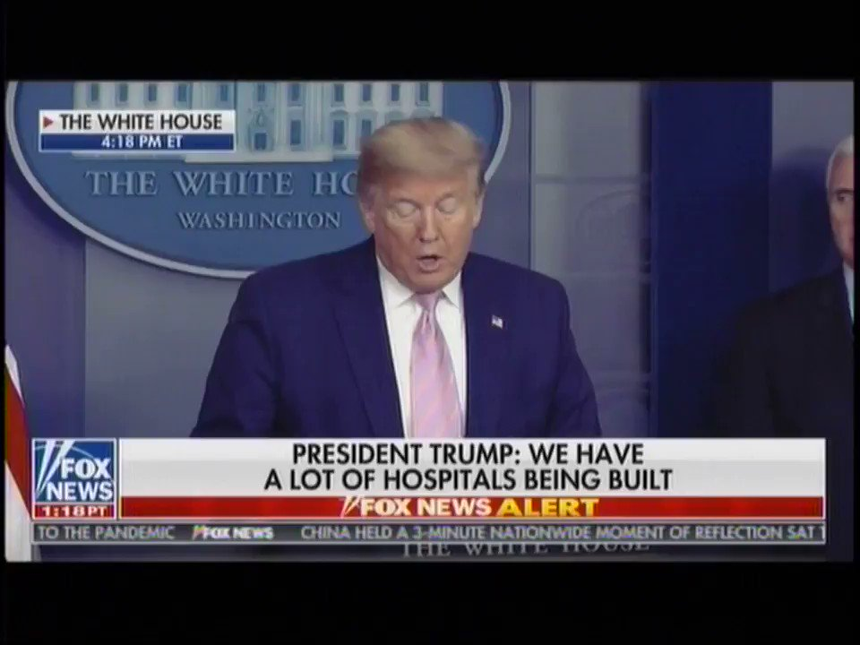 """Every decision that we're making is made to save lives. It's really our sole consideration."" -- @realDonaldTrump"