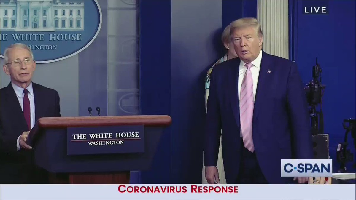 "TRUMP: ""I hope they use the hydroxychloroquine ... I hope they use it because I'll tell you what, what do you have to lose?"""