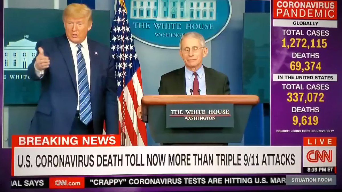 "Dr. Fauci, the ONE guy who should be fielding questions on the drug hydroxychloroquine, gets asked and trump shuts it down.  Reporter: ""But he's your medical expert, right?""  The whole thing is fishy."