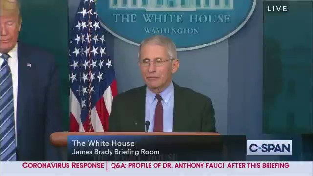 Watch Trump refuse to allow Dr Fauci to weigh in on Hydroxychloroquine