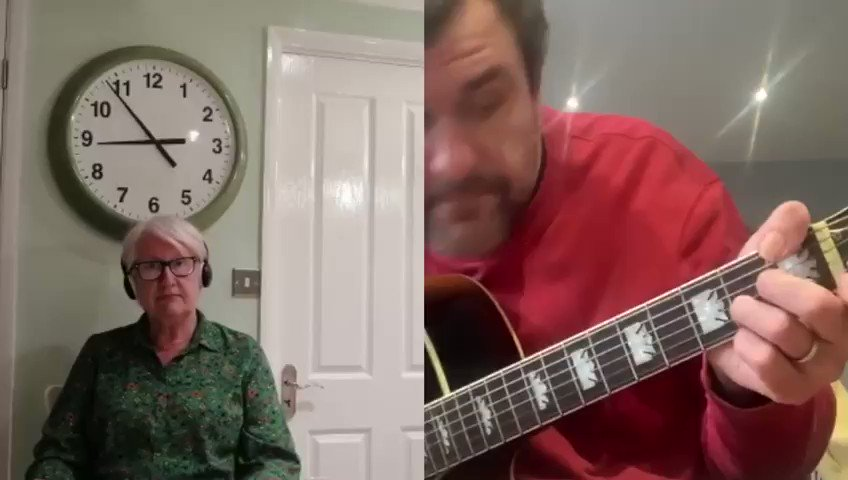 I've not seen me Mum for 7 weeks now cos of me Dads pneumonia. We speak every day but it's tough  She loves to sing, especially Amy Winehouse so we did a little song together  Can you leave her a kind message or give her a RT? Her names Cheryl  Full song