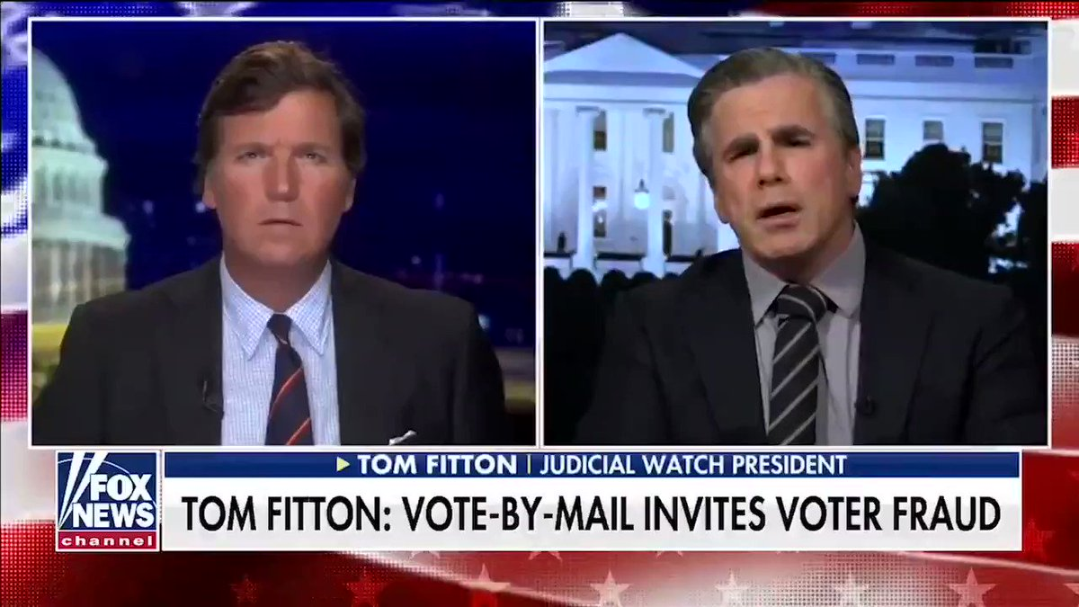 """The safest/most secure way to vote is in person. When you take that away, anything goes. We're destroying our economy, we're limiting our freedoms, and now [the Left] just want to blow up our elections."" @JudicialWatch @RealDonaldTrump"