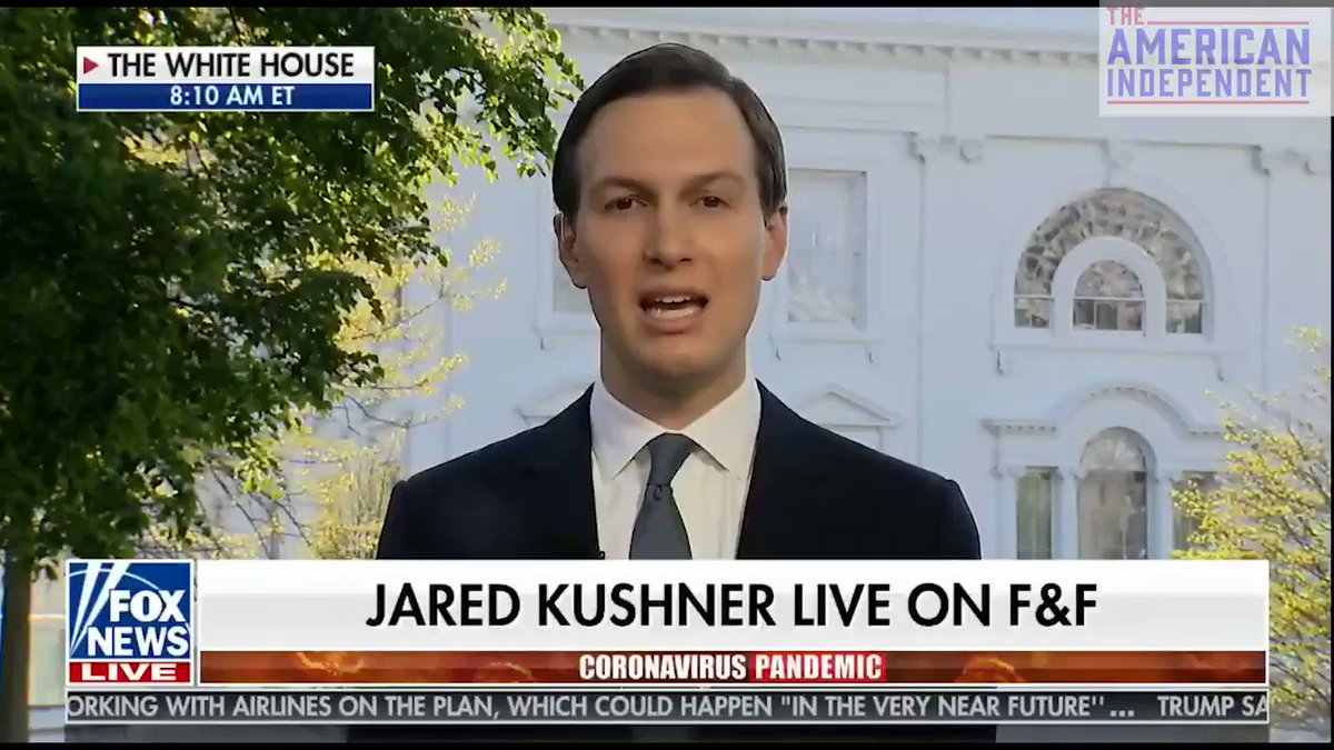 """Hey @realDonaldTrump, it's not Bubba Wallace who needs to apologize, it's Jared Kushner. Ten weeks ago he told us the """"medical aspect"""" of the #TrumpVirus was over. Another 70,000 have died since then, while he and his family were gorging on PPP cash."""