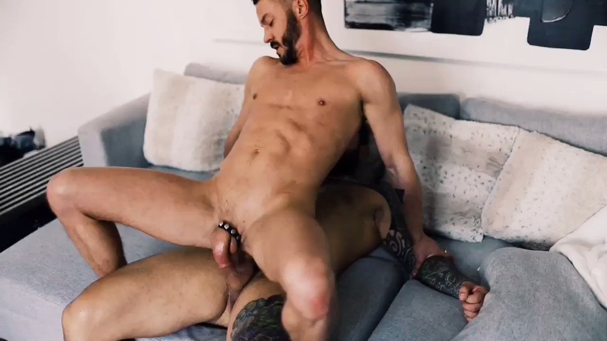 Holding this beast down while I ride his cock. @kage_markus   Full Vids at      #gaybottom  #cockriding #gaymuscle #gaytattoo #gayvid #asspounding #gayporn