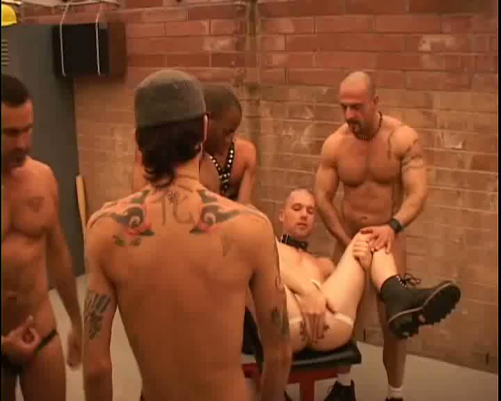 You always wondering what happened back in the #lockerroom after a big #fight!  Now you know the #pussyboy gets #strungUP and #fucked by the entire #dominant #team!  After, the #pussy #leaks #cum for days!