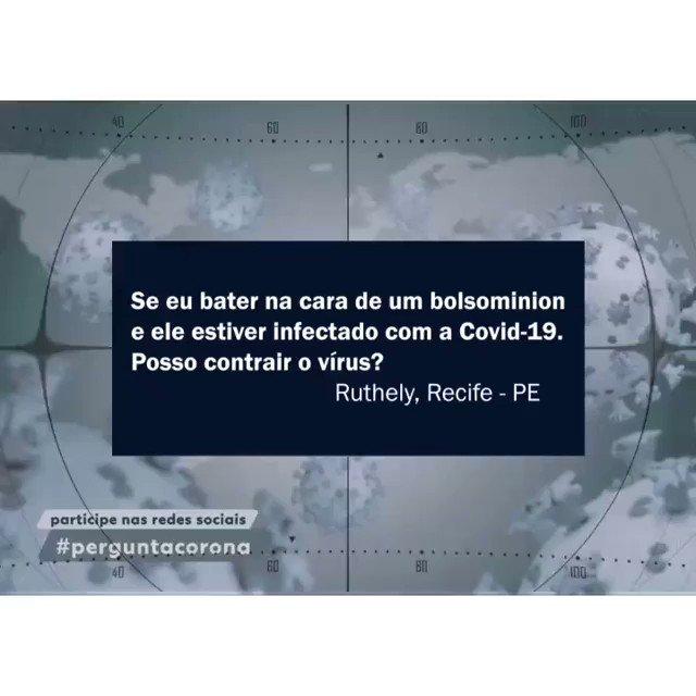 """Pergunta feita em Recife: """"Posso contrair a Covid-19 se eu bater na cara de um bolsominion?"""" Ouça a resposta do médico! #CHURRASCODAMORTE"""