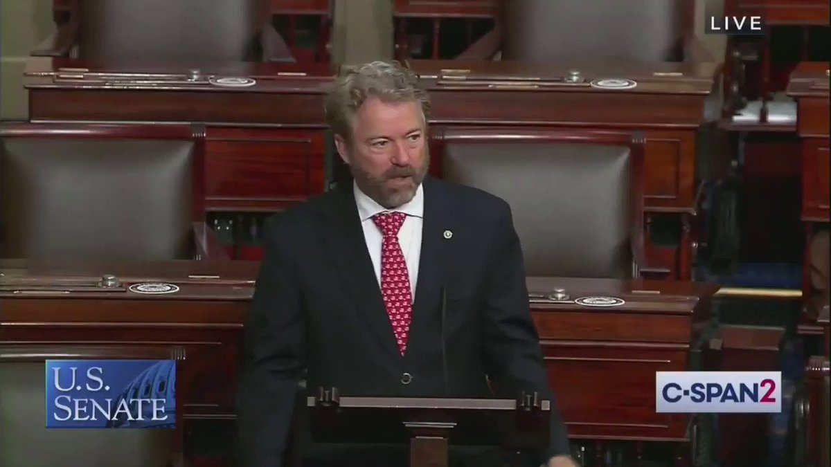 """Sen. @RandPaul is dropping BOMBS on Senate floor as lawmakers consider FISA reauthorization:  """"The Patriot Act was begotten under of the most unpatriotic of ideas, that liberty can be exchanged for security. The history of the Patriot Act shows that the exchange is a poor one."""""""