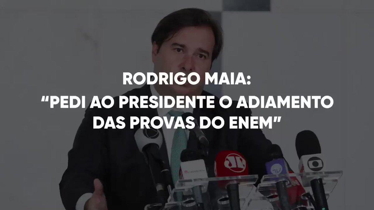 Relatei hoje ao presidente Bolsonaro que há uma demanda forte na Câmara dos Deputados pelo adiamento do Enem. O Parlamento poderia suspender o exame por meio de lei ou decreto legislativo, mas defendi que a melhor solução é que o governo federal tome a iniciativa nesse sentido.