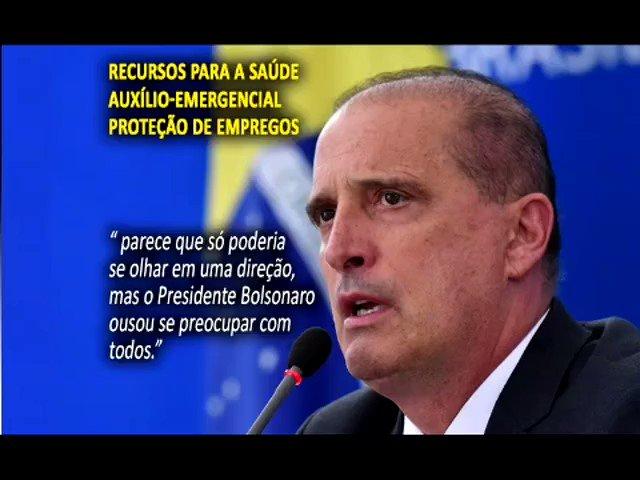 Ele foi o primeiro, foi duramente atacado. Presidente Bolsonaro ousou se preocupar com todos.🇧🇷.