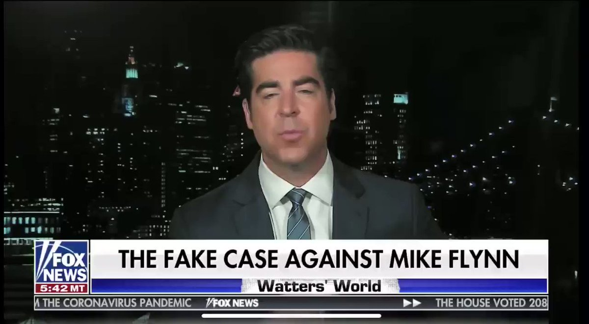 Watters says the law firm Flynn used is a democrat law firm and is Eric Holder's firm. He says they were in on the hoax