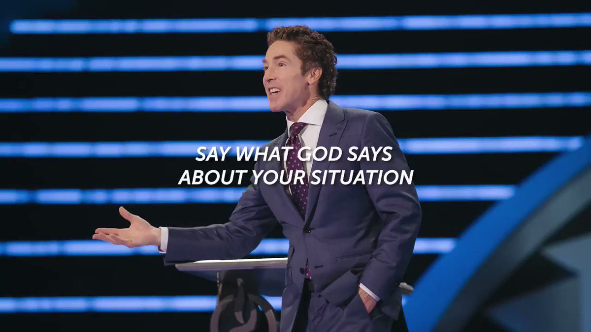 """When you're in difficult times, don't just say what you feel, what you think, what you want. Say what God says about your situation.  Listen now to this new message from Joel, """"It Has to Go Back"""":"""