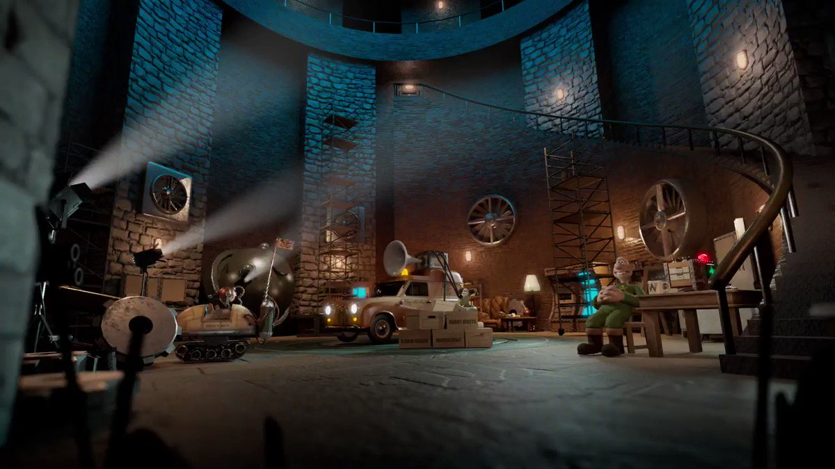 Revealing the first animation from #WallaceandGromit: #TheBigFixUp, the duo's first foray into #augmentedreality, developed with @FictioneersLtd. Rendered in #CG using new technology, fans will interact in fresh ways and get closer than ever to the duo: