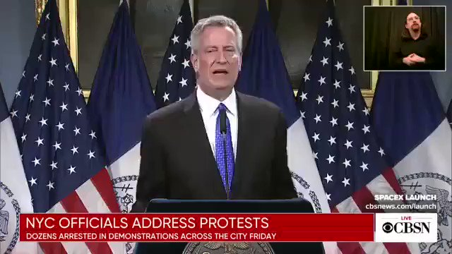 """NYC Mayor Bill de Blasio is now blaming the riots on President Trump saying he """"helped to create"""" the """"atmosphere"""" for them."""