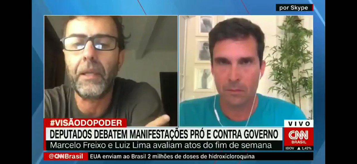 """Quando o deputado usou esse argumento barato, imaginei """"a hora que o @MarceloFreixo Vai engolir ele é agora"""" dito e feito kkk  Já sei onde quero assistir os debates de 2022 (se não houver a """"ruptura"""") 👍🏻 #CNNBrasil"""