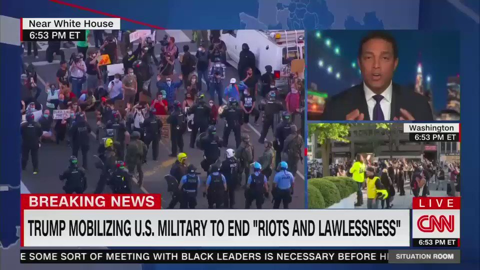 """Don Lemon: """"Open your eyes America. Open your eyes. We are teetering on a dictatorship. This is chaos."""""""