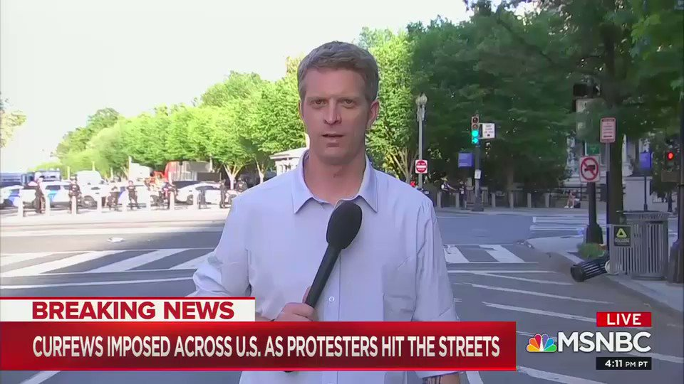 MSNBC's Haake: I want to be super clear ... nothing happened on the side of the protesters ... then before the curfew mounted federal police using flash bangs and tear gas .. I was listening to POTUS speak about law and order as people were pushed aside by police forces.