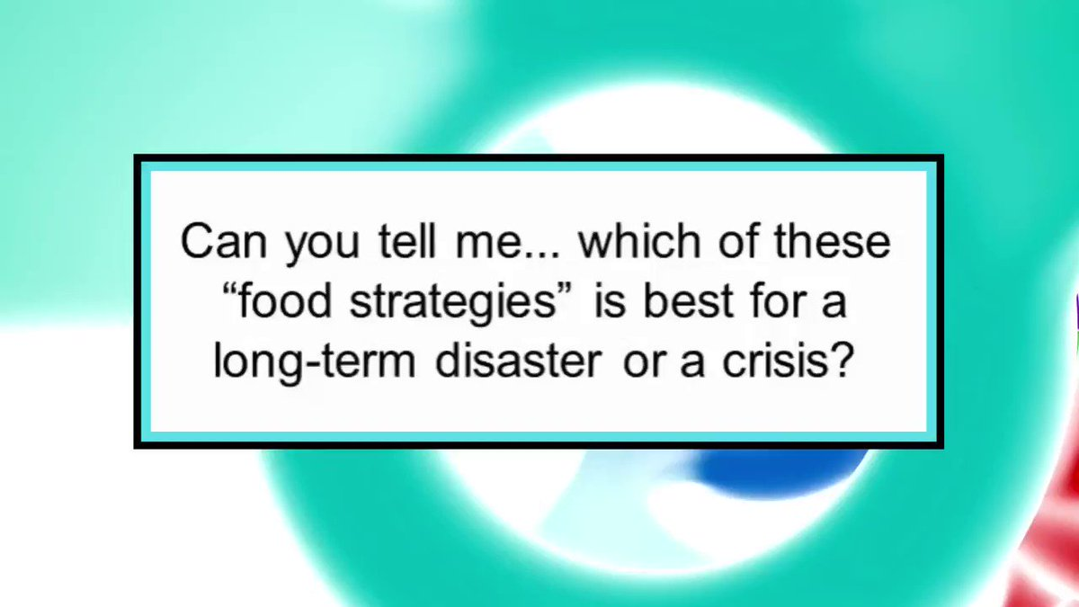 """Pop quiz: Which of these """"food strategies"""" is best for a long-term disaster or a crisis? Is it...   #riots2020 #riots #protest #protesters #riotsusa"""