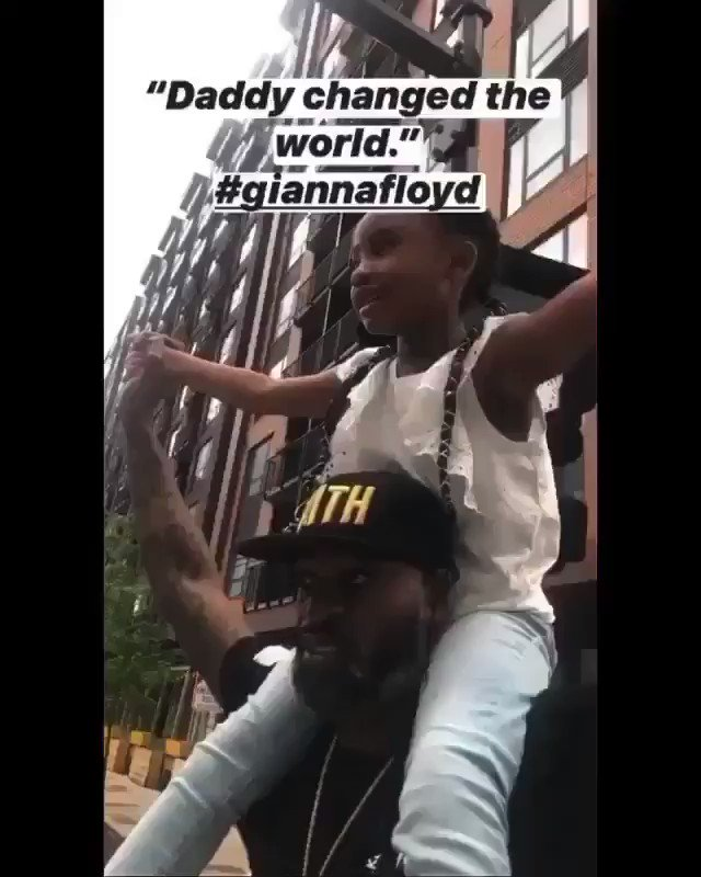"""""""Daddy changed the world.""""  ~6 year-old Gianna Floyd about her father, #GeorgeFloyd. 🖤  #BlackLivesMatter"""