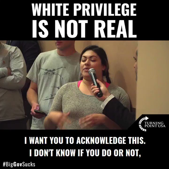 White Privilege is a racist lie.  Every American is capable of making their own choices.  This country allows you to make a winner or loser of yourself, for yourself.  LEARN MORE—>