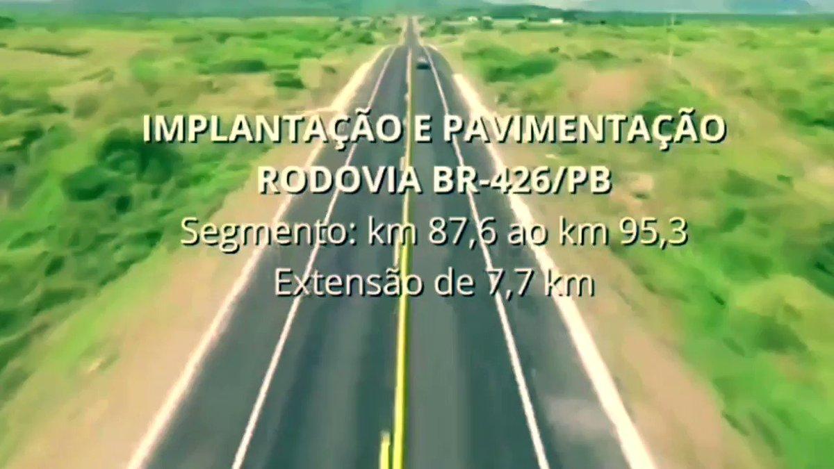 MAIS AÇÕES DIÁRIAS DO Governo do Brasil DIVULGADAS NAS REDES SOCIAIS:  1 . Ontem foi concluída a pavimentação e recuperação de mais um trecho da BR-426/PB. Nova estrada que o @MInfraestrutura iniciou em 2019 e que foi entregue dentro do cronograma.
