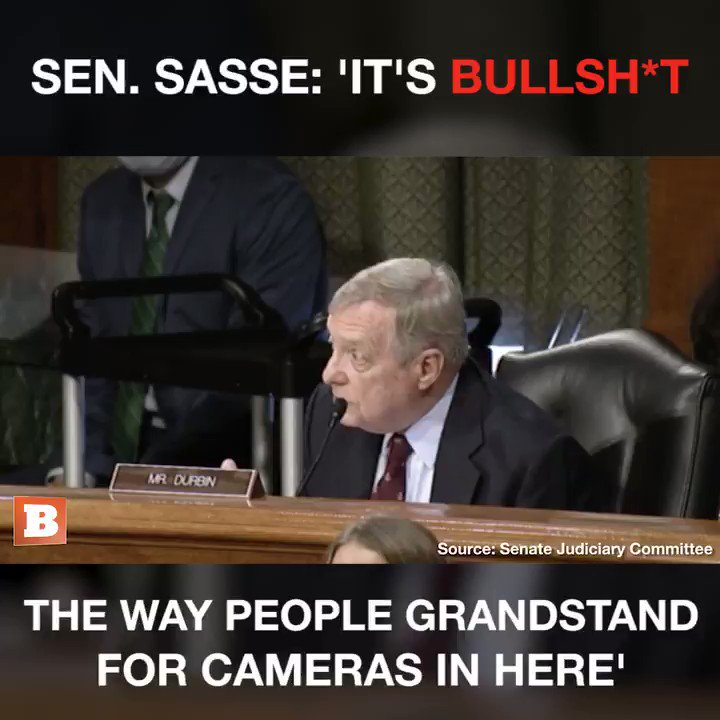 Sasse is one of the biggest Grandstanders in the Swamp.
