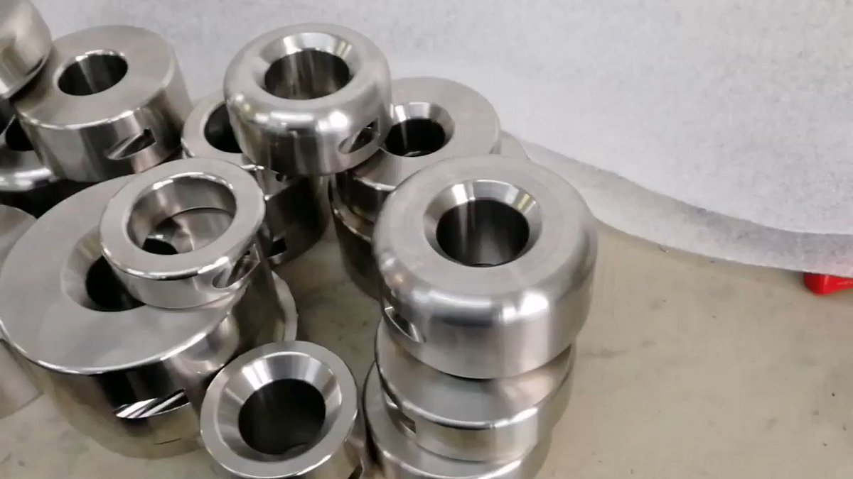 So again some special productions with turning and milling finished. Now we cut and polish them and they are ready to ship.  Who finds his ordered #ballstretcher ? Please Retweet if you like it. 😁