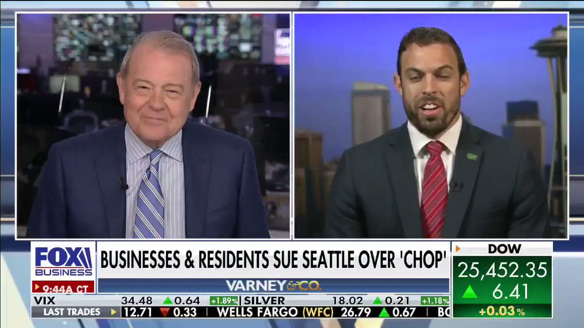 Business owners in Seattle's #CHOP are fed up with the protesters, and they've filed a lawsuit over the city's lack of leadership. Caleb Heimlich, Chairman of #Washington state's #GOP says his party expects to win big in November. #Democrats #Republicans #Seattle #VarneyCo