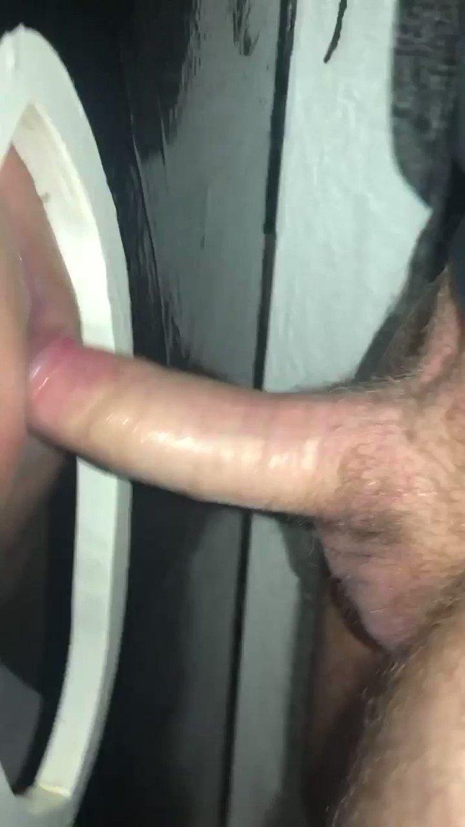 Hot hung cock breeds used sloppy hole 😝💦 #gloryhole #cumdump #bareback #fuck