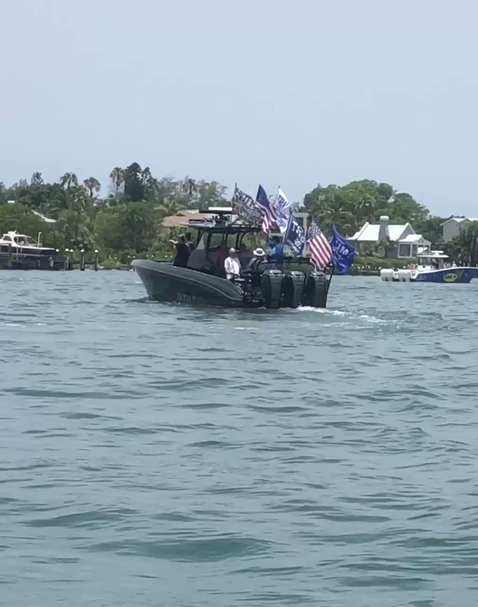 THE SILENT MAJORITY IS STRONGER THAN EVER!    Here's a video of just one of the hundreds—and I mean HUNDREDS—of Trump boats I saw in Florida this weekend🇺🇸  The nationwide support for President @realDonaldTrump is simply undeniable.