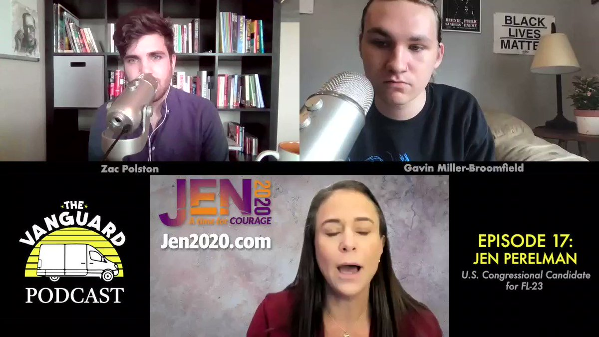 Thank you @vanguard__blog for having me on this afternoon!  We've built a very diverse coalition of all walks of political life.  This is key to victory against Wasserman Schultz as well as other entrenched Incumbents.  #VoteJenBeatDebbie #JEN2020