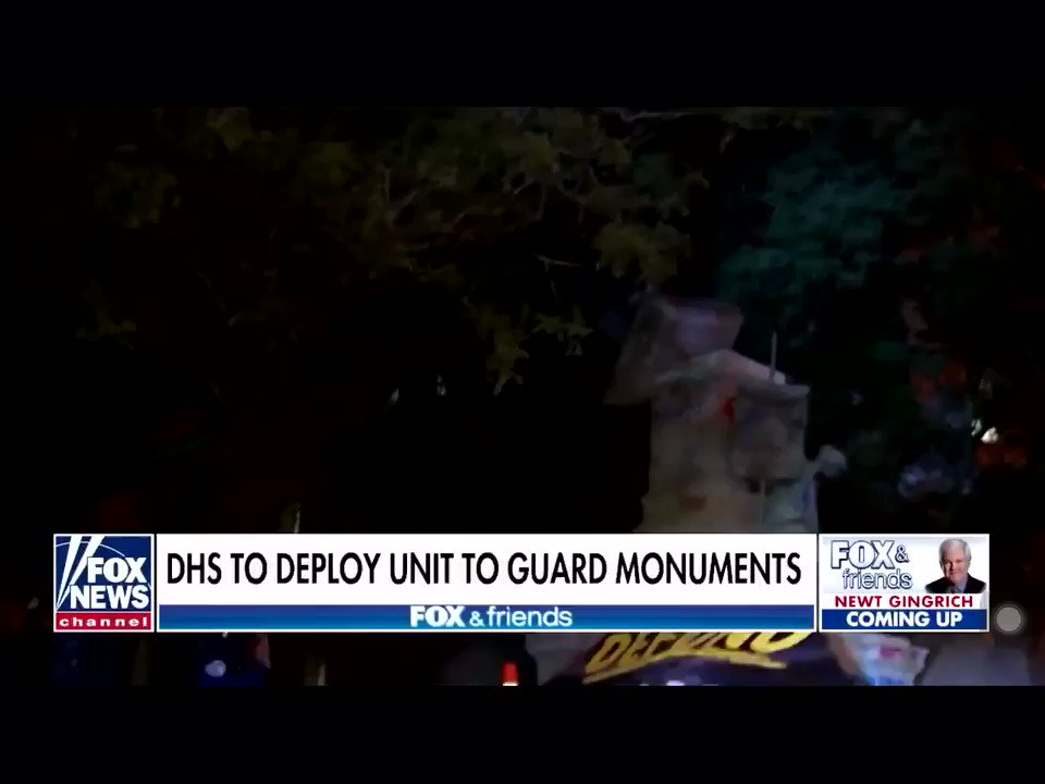 DHS deploys units to guard monuments. @DHS_Wolf Explains.