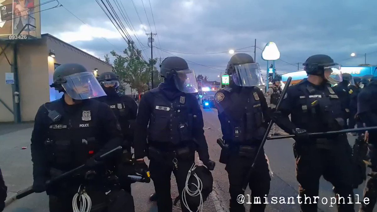 Adding this video of Portland police assaulting protesters to the countless others from last night