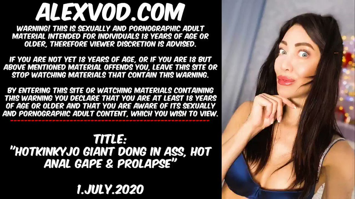 """Warning: This tweet contains porn content for adults only!   It was really great deep view in my ass after this dildo♥️ At AlexVod:  """"Hotkinkyjo giant dong in ass, hot anal gape & prolapse""""  Please RT🙏  #anal #prolapse #fisting #porn #gape @hankeystoys"""