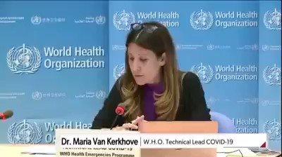 #WorldHealthOrganization は今までの発表を覆しました。 #coronavirus に感染している人を隔離する必要はありません。そして、社会的距離を取る必要もありません。感染している者から別の人に感染しません。動画を確認してください。