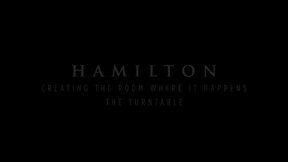 Here's how we decided to put a turntable in @HamiltonMusical #Hamilfilm @disneyplus @Lin_Manuel