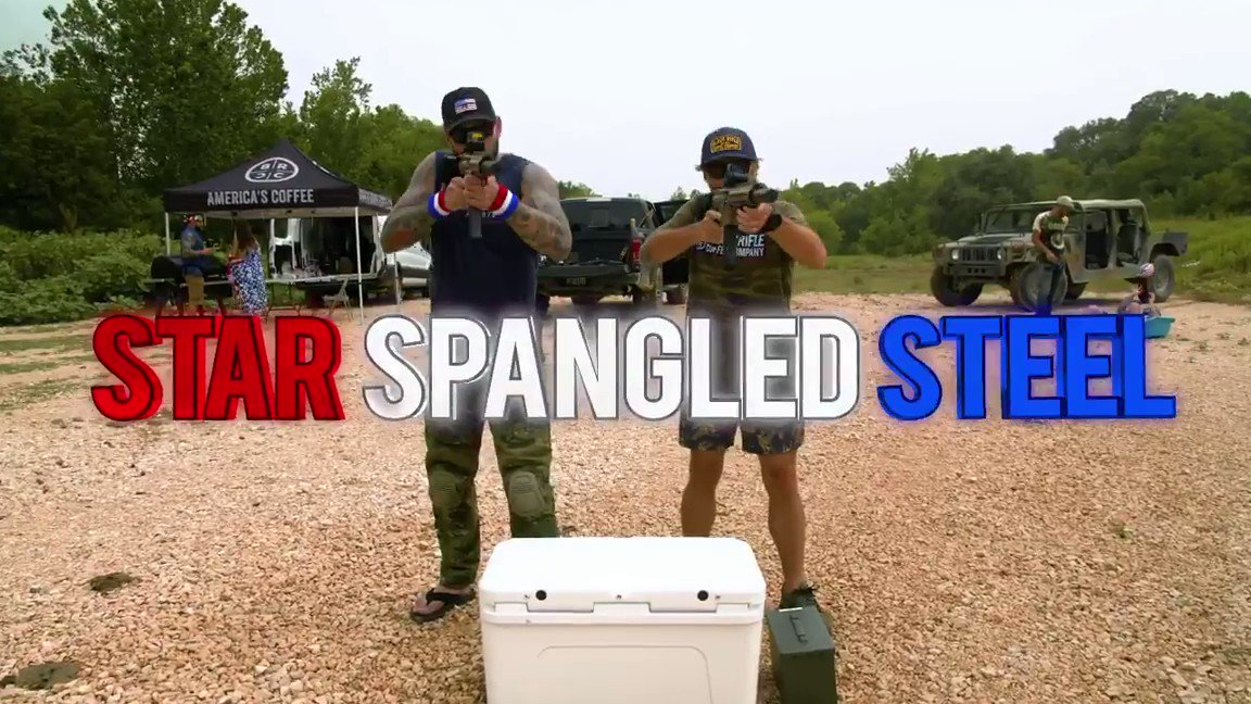 Star Spangled Steel played with guns - Kicking off July 4th the right way.  @blckriflecoffee