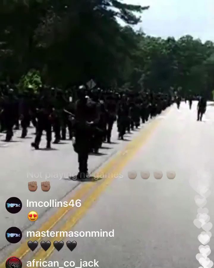 """Update: This group refers to itself as the NFAC """"the Not Fuckin Around Coalition."""" (📹@jaorialese) #BlackLivesMatter"""