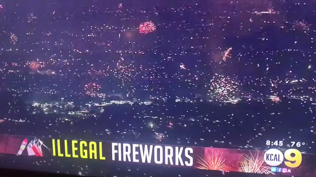 Commie Newsom banned ALL gatherings July 4 in California with the sole exception of protests (of course). He further banned fireworks displays. California had some other ideas 💥✨🎉